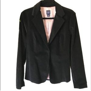 Gap velvet blazer jacket with tie ribbon